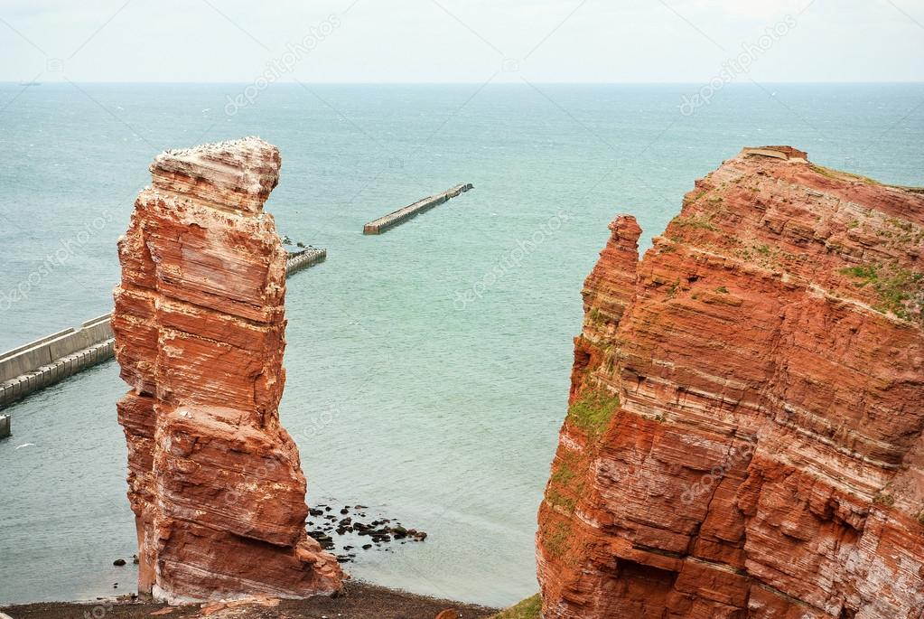 Cliff line of Heligoland with the Tall Anna