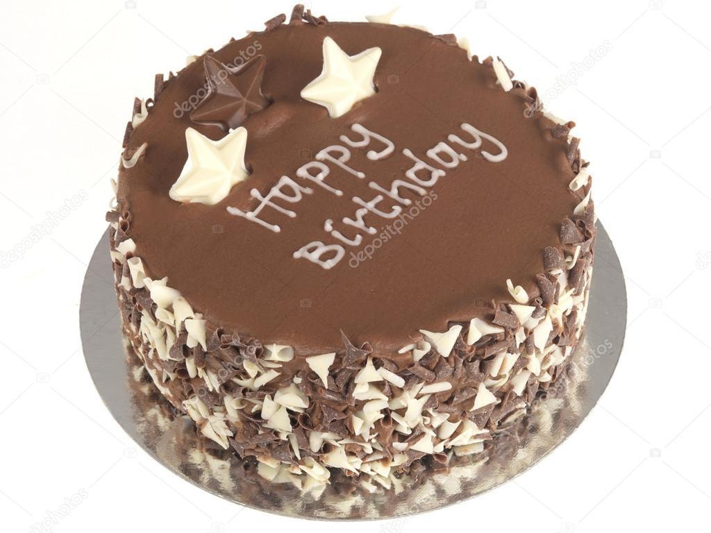 Favoriete chocolade verjaardagstaart — Stockfoto © richardmlee #13627736 @QQ-87