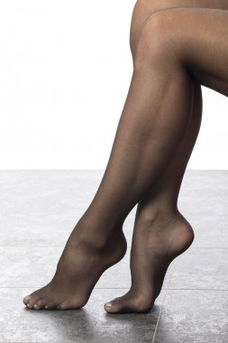 Close Up of a Model Wearing Black Stockings