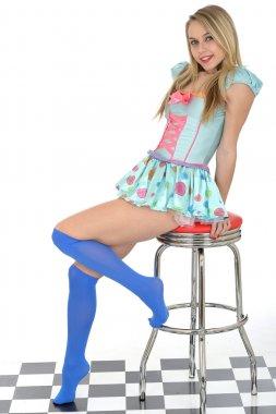 Pin Up Model In Cute Love Heart Costume
