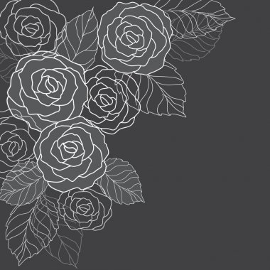 Abstract background with roses