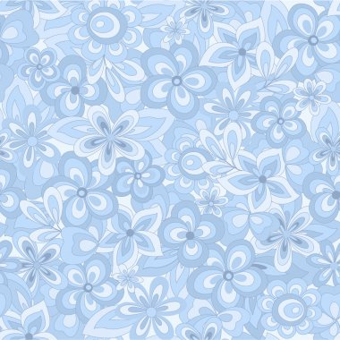 abstract blue flowers background