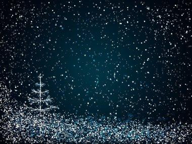 Dark blue christmas background