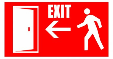 Fire emergency exit signal