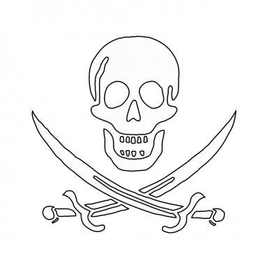 skull and swords (pirate symbol)