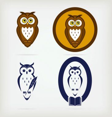 Set of wise owls