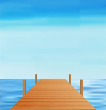 Landscape Sea Way vector