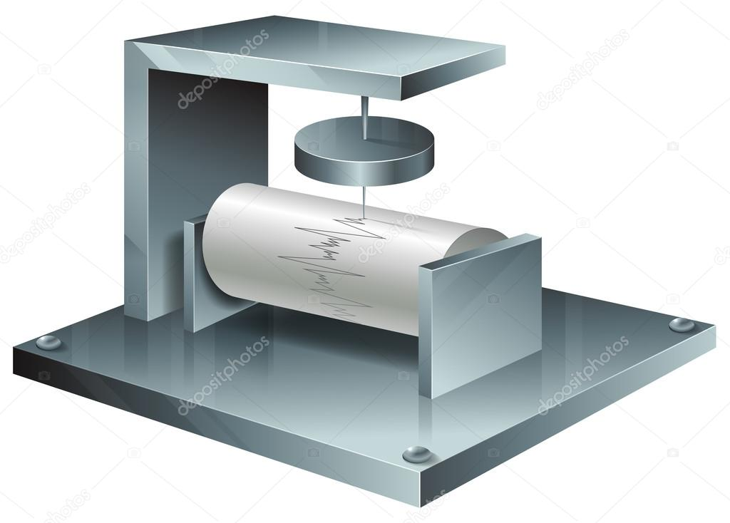 地震計 — ストックベクター © bl...
