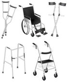 Photo Crutches and Wheelchairs