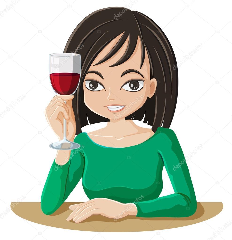 Resultado de imagem para mulher bebendo vinho