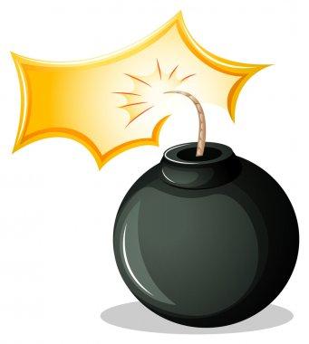 A round explosive bomb