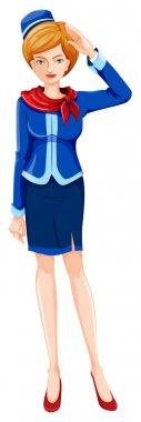 An air hostess