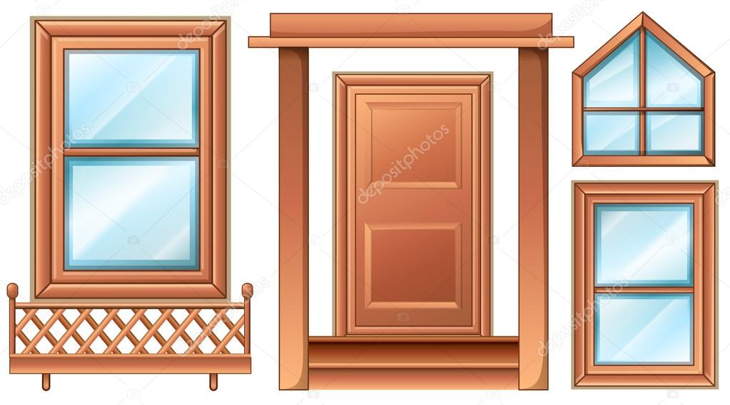 Different door designs  Stock Vector #36146941