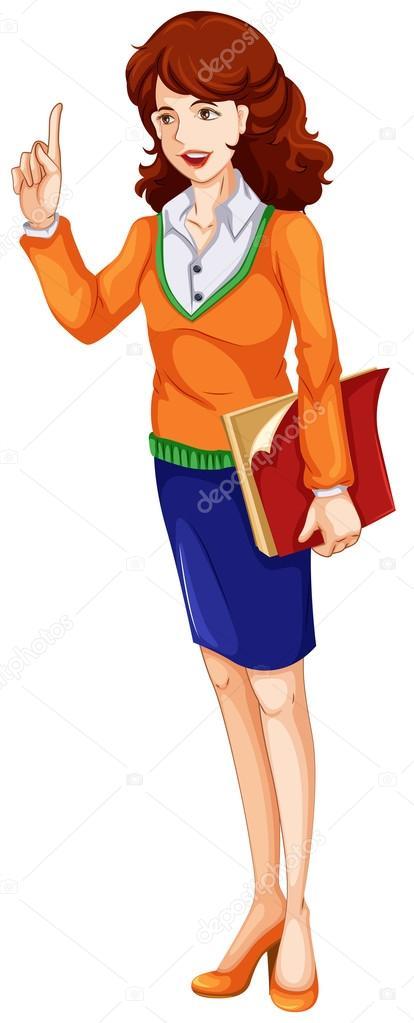 картинка воспитатель с книгой на прозрачном фоне она решила
