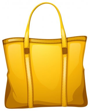 A yellow leather bag