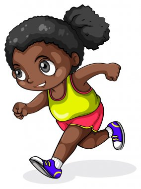 A black girl running