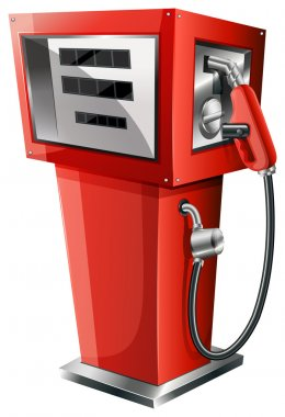 A red petrol pump