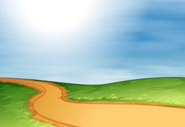 A narrow pathway