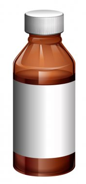 A light brown medical bottle