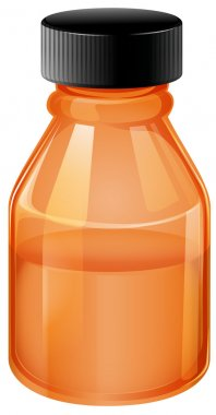 An orange medical bottle