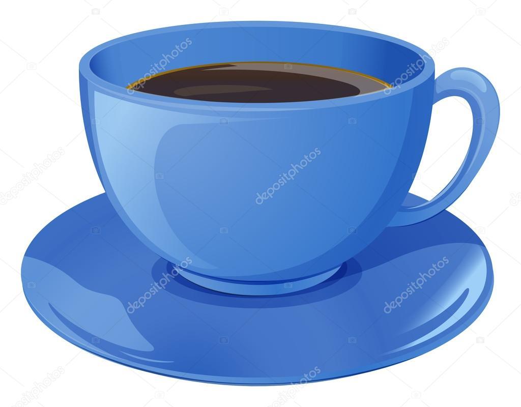 чашка голубая картинки