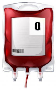 A blood bag with type O blood