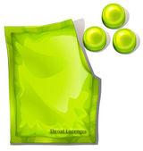 Fotografia una confezione di pastiglie gola verde