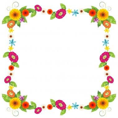 A flowery border design