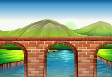 A bridge across the mountains