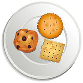 Fotografia un piatto con biscotti