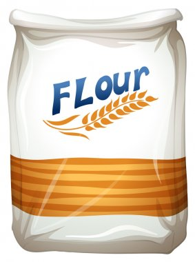 A packet of flour