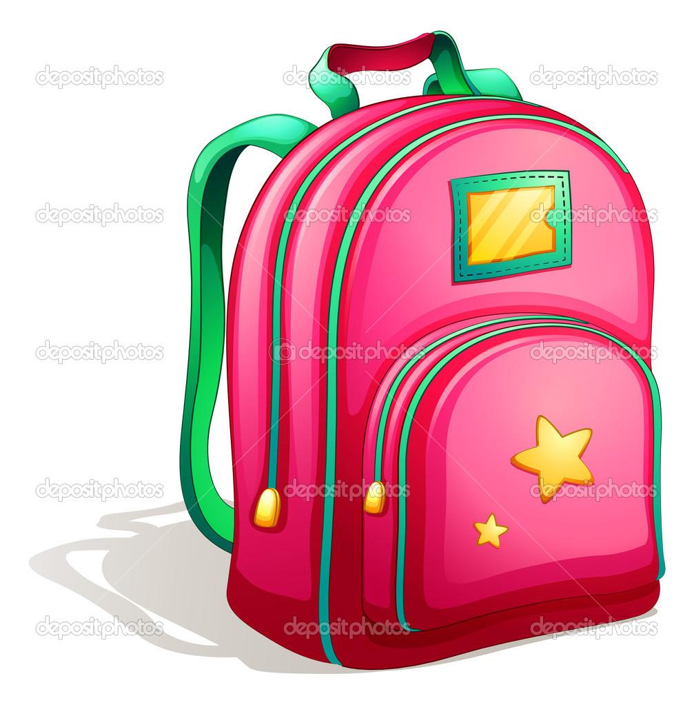 A pink schoolbag stock vector blueringmedia 48077031 - Clipart cartable ...