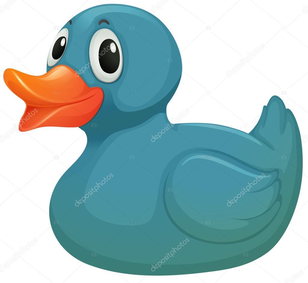 eine leichte blaue Gummi duckie — Stockvektor © blueringmedia #48227337
