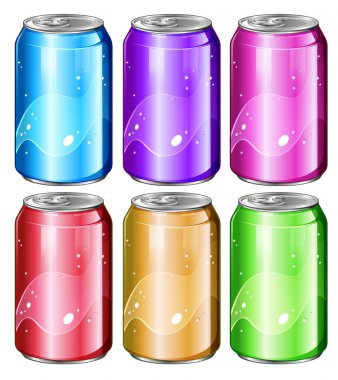 Set of soda cans