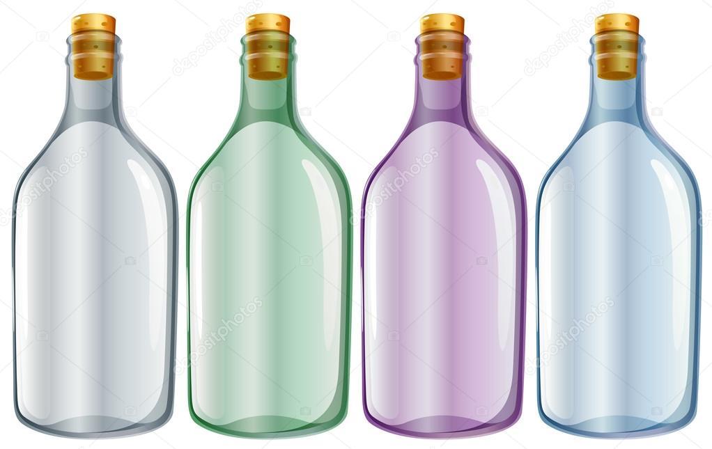 cuatro botellas de vidrio Vector de stock blueringmedia 50127745