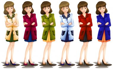 Female in different shades of a blazer