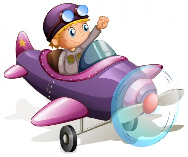 A purple vintage plane