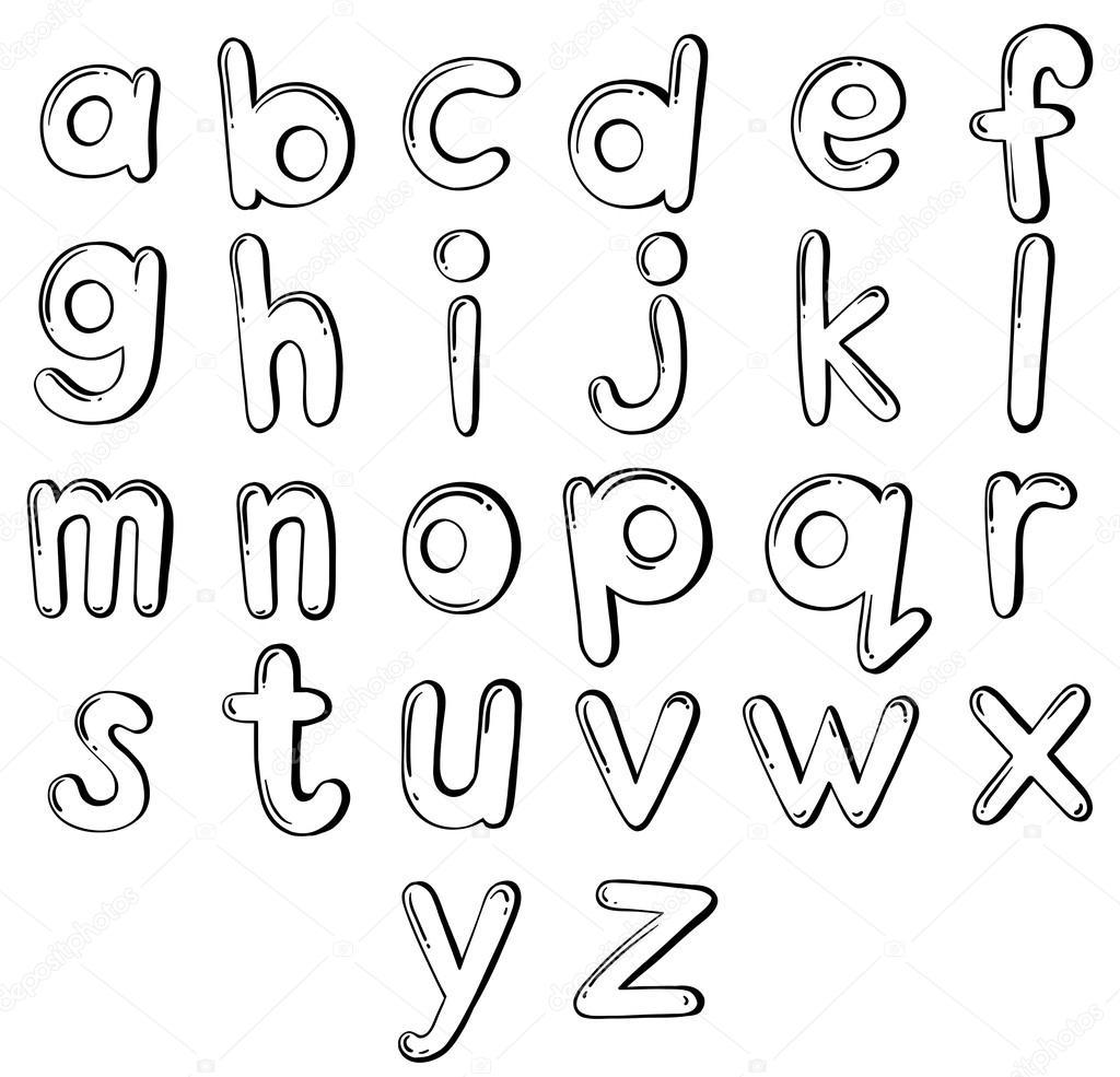 Lettere dell 39 alfabeto vettoriali stock blueringmedia for Nomi in corsivo gallery