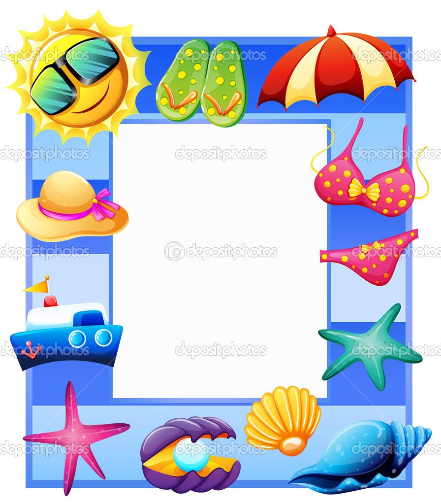 un marco para el verano — Vector de stock © blueringmedia #50540797