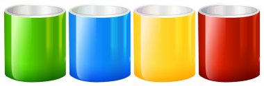 Colourful beakers