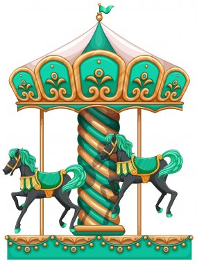 A green merry-go-round