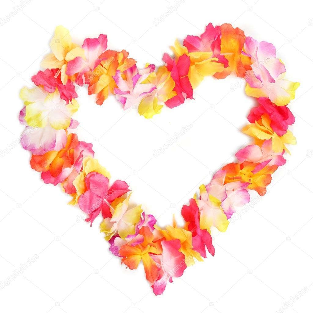 Hawaiian flowers stock photo vladvitek 12716179 heart from flowers necklace traditional hawaiian decoration photo by vladvitek izmirmasajfo