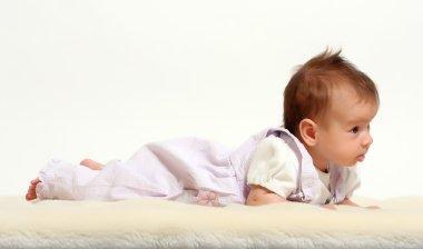 Baby on sheepskin