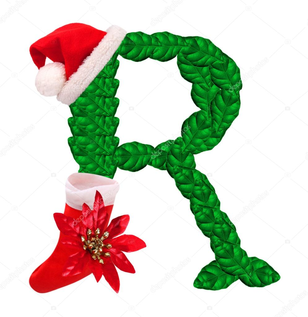 Christmas letter with santa claus cap and stocking stock photo christmas letter r with santa claus cap and stocking one part of great christmas alphabet photo by vladvitek spiritdancerdesigns Gallery