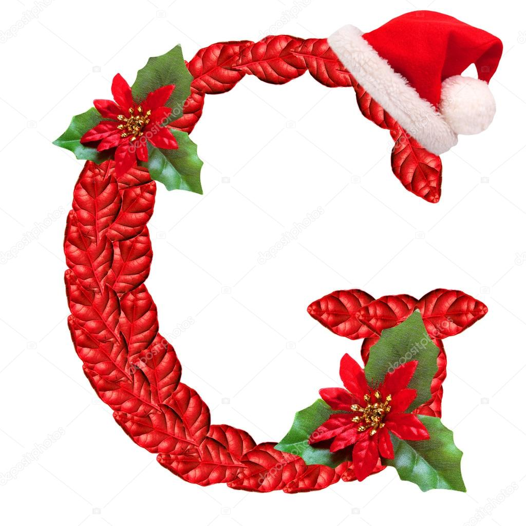 Christmas letter g with santa claus cap stock photo 169 vladvitek - Christmas Letter G With Santa Claus Cap Stock Photo