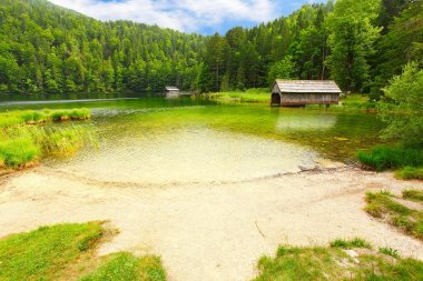 The Toplitzsee. Alpine lake in a Salzkammergut, Austria
