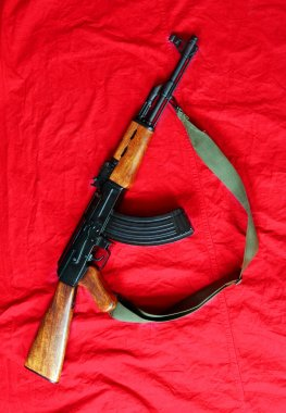 The assault rifle traditional weapon for terrorist guerrilla
