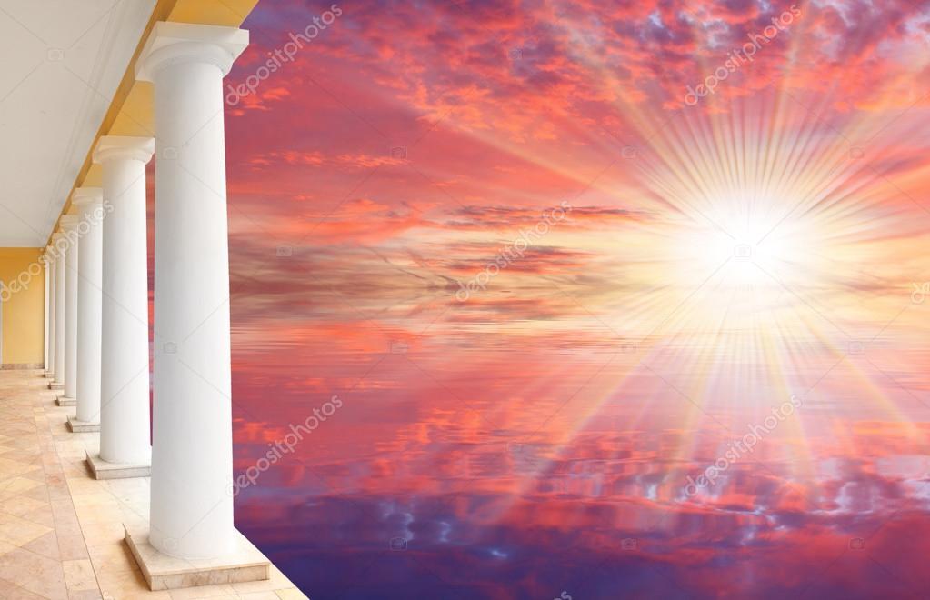 Resort and beautiful sunset