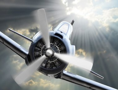 Fight on the sky. Vintage planes collage. Air war theme.
