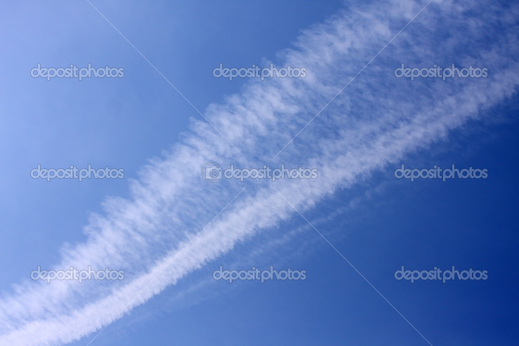 Vapour trails background